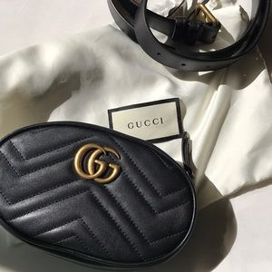 Authentic Gucci Marmont Belt Bag 🐾